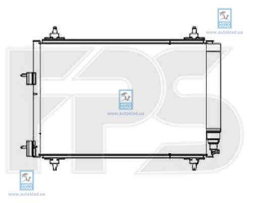 Радиатор кондиционера FPS 54K145