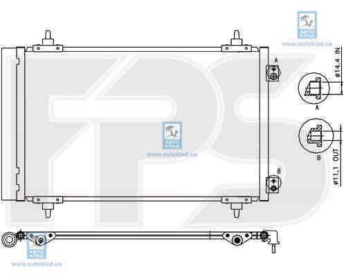 Радиатор кондиционера FPS 54K239X