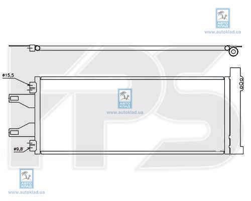 Конденсор кондиционера FPS 54K431