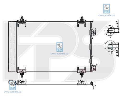 Радиатор кондиционера FPS 54K435X