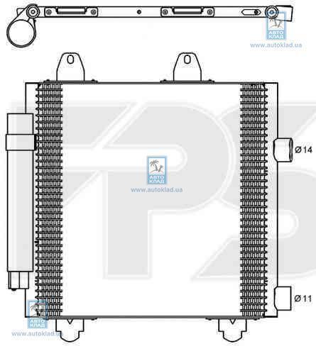 Радиатор кондиционера FPS 54K964X