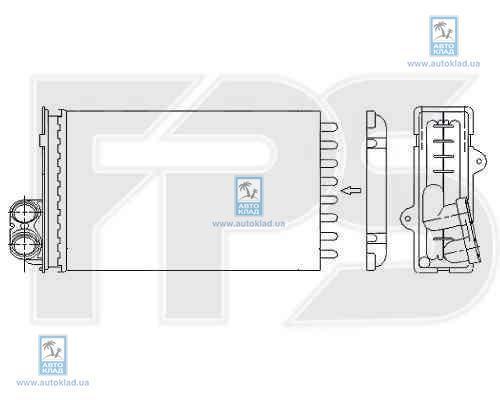 Радиатор отопителя салона FPS 54N42