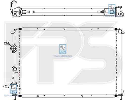 Радиатор охлаждения FPS 56A1134X