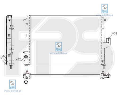 Радиатор охлаждения FPS 56A145