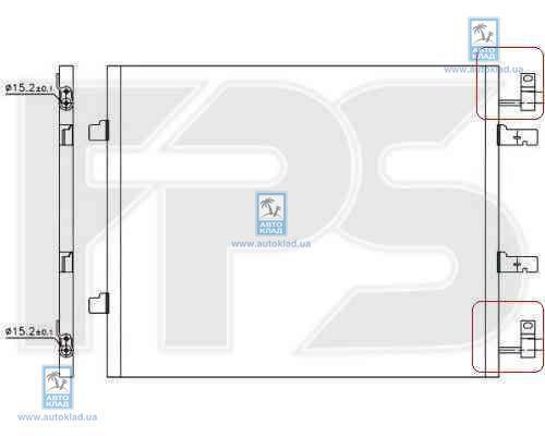 Радиатор кондиционера FPS 56K252X