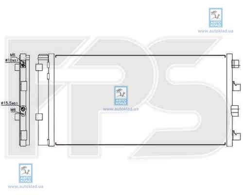 Радиатор кондиционера FPS 56K271