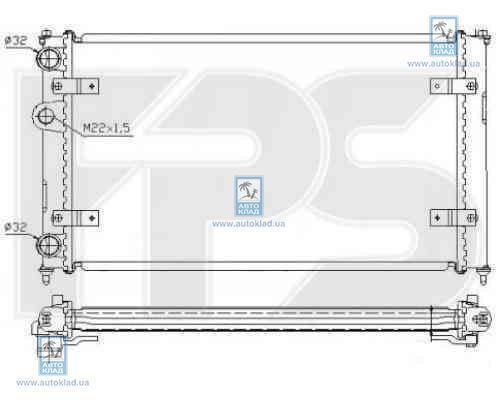 Радиатор охлаждения FPS 62A498