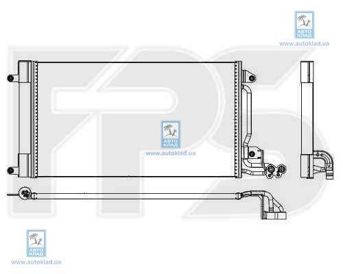 Радиатор кондиционера FPS 62K53X