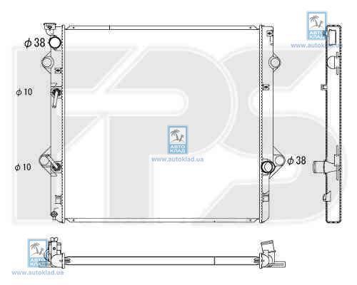 Радиатор охлаждения FPS 70A340X