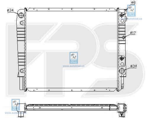 Радиатор охлаждения FPS 72A486X