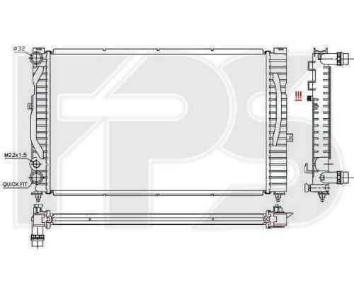 Радиатор охлаждения FPS 12A404P