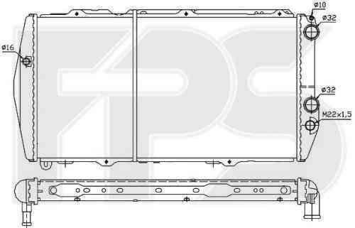 Радиатор охлаждения FPS 12A848P