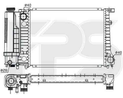 Радиатор охлаждения FPS 14A17P