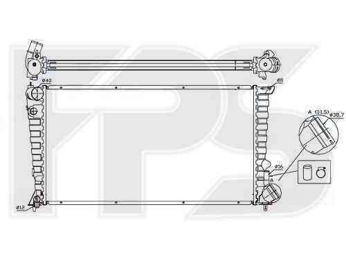 Радиатор охлаждения FPS 20A64P