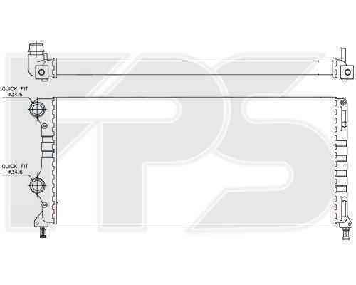 Радиатор охлаждения FPS 26A112P