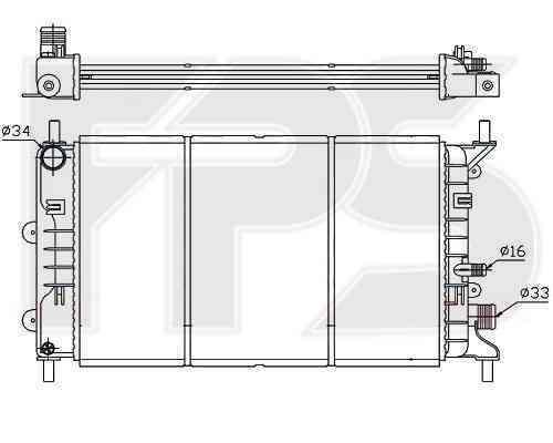 Радиатор охлаждения FPS 28A157