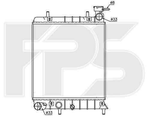 Радиатор охлаждения FPS 32A653