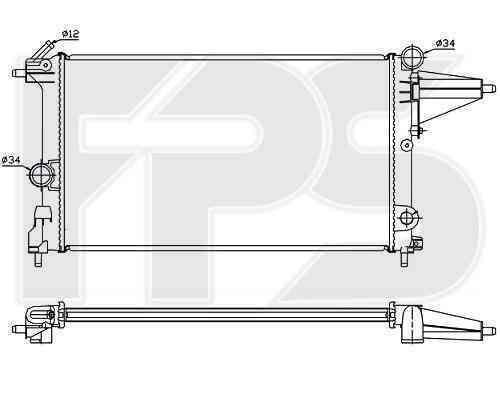 Радиатор охлаждения FPS 52A252