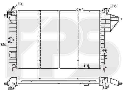 Радиатор охлаждения FPS 52A253P