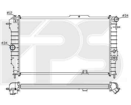 Радиатор охлаждения FPS 52A279