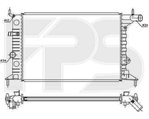 Радиатор охлаждения FPS 52A280