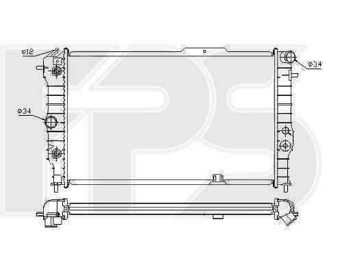 Радиатор охлаждения FPS 52A286