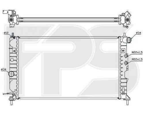 Радиатор охлаждения FPS 52A287