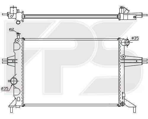Радиатор охлаждения FPS 52A314