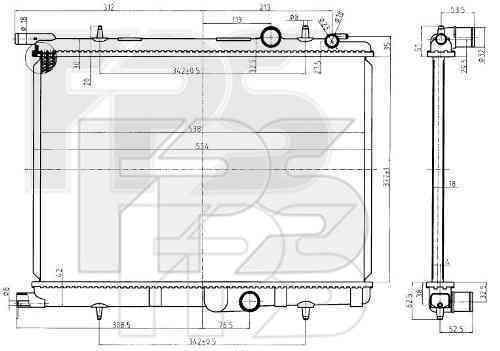 Радиатор охлаждения FPS 54A63