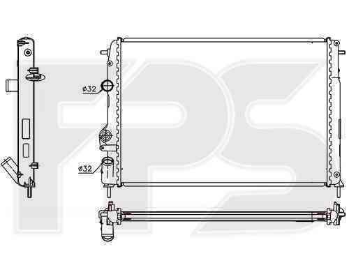 Радиатор охлаждения FPS 56A365P