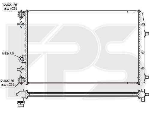 Радиатор охлаждения FPS 64A435P