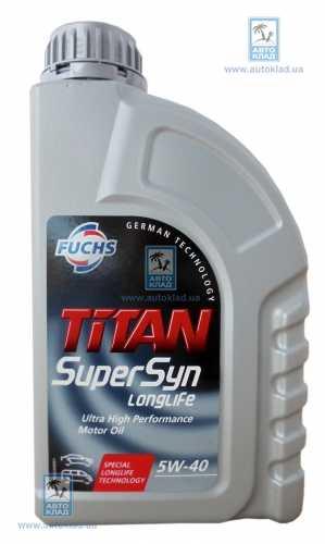 fuchs 5w 40 titan supersyn longlife 1. Black Bedroom Furniture Sets. Home Design Ideas