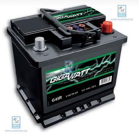 Аккумулятор 45Ач 330A GIGAWATT 0185754555