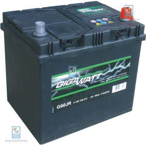 Аккумулятор 60Ач 510A GIGAWATT 0185756012