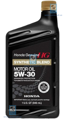 Масло моторное 5W-30 Synthetic Blend 1л HONDA 087989034