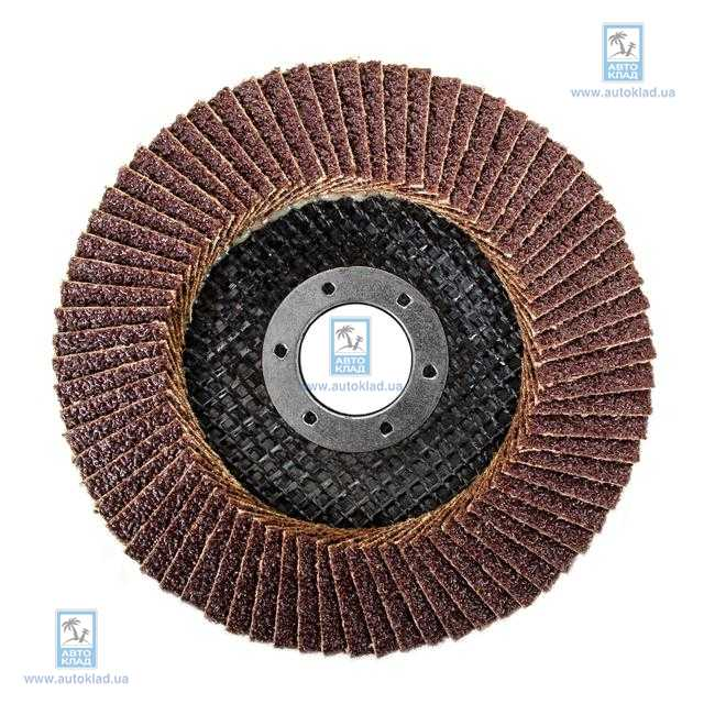 Диск шлифовальный лепестковый 115*22мм K40 INTERTOOL BT0104