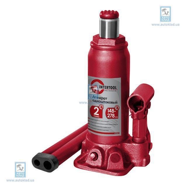 Домкрат одноштоковый 2т INTERTOOL GT0021