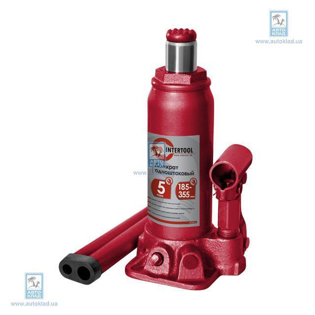Домкрат одноштоковый 5т INTERTOOL GT0023