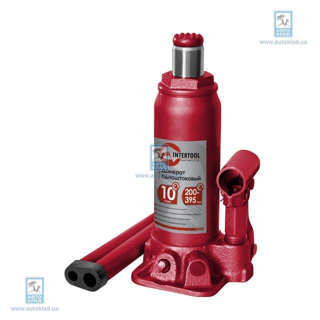 Домкрат одноштоковый 10т INTERTOOL GT0025