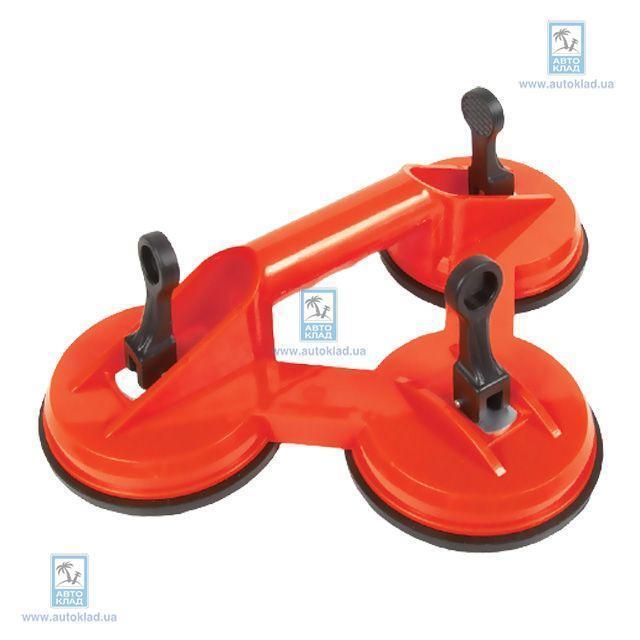 Держатель-присоска для стекол тройная 3x120мм max 160кг INTERTOOL HT7103