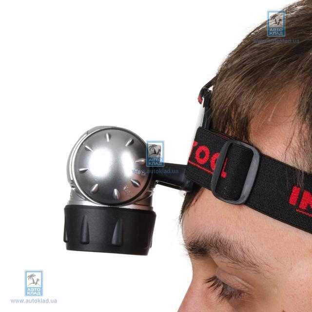 Фонарь налобный LED INTERTOOL LB0301