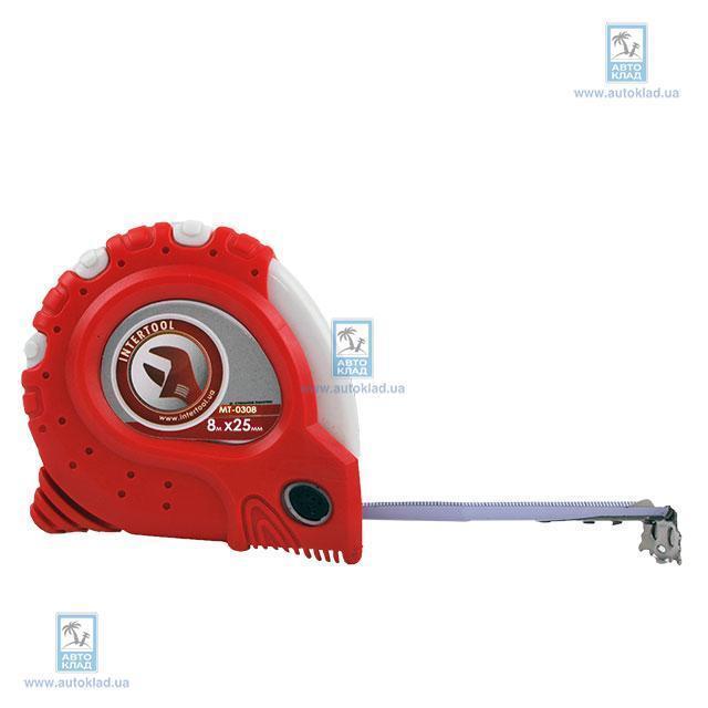 Рулетка с фиксатором 8мx25мм INTERTOOL MT0308