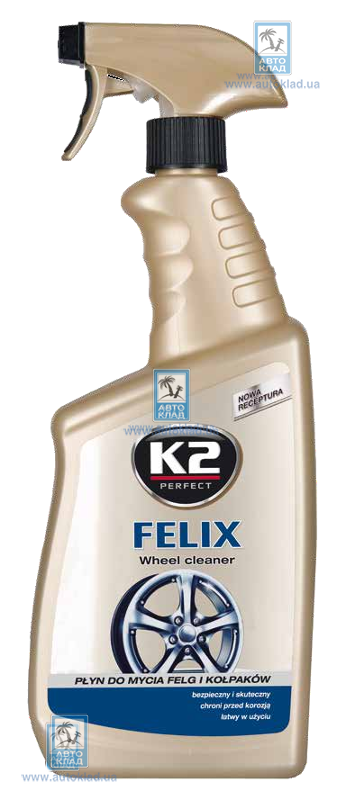 Средство для мытья дисков и колпаков FELIX Atom 770мл K2 K167M: описание