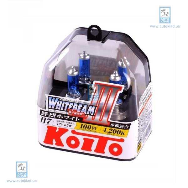 Автолампа H7 Whitebeam III комплект 2шт KOITO P0755W