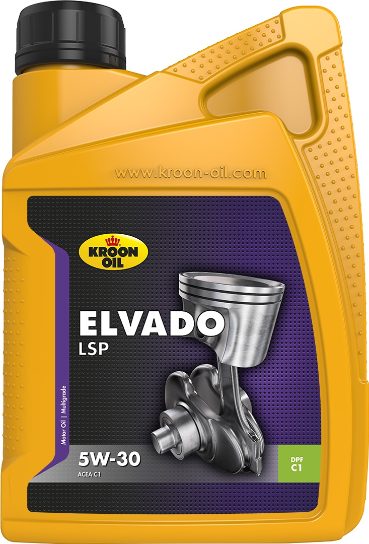 Масло моторное 5W-30 Elvado LSP 1л KROON OIL 33482
