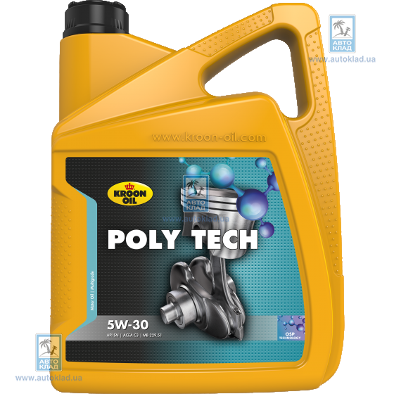 Масло моторное 5W-30 Poly Tech C3 5л KROON OIL 35467: купить