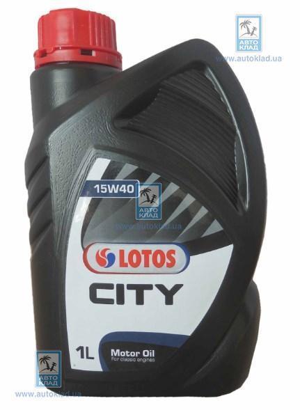 Масло моторное 15W-40 City 1л LOTOS WFK1075100N0: цена