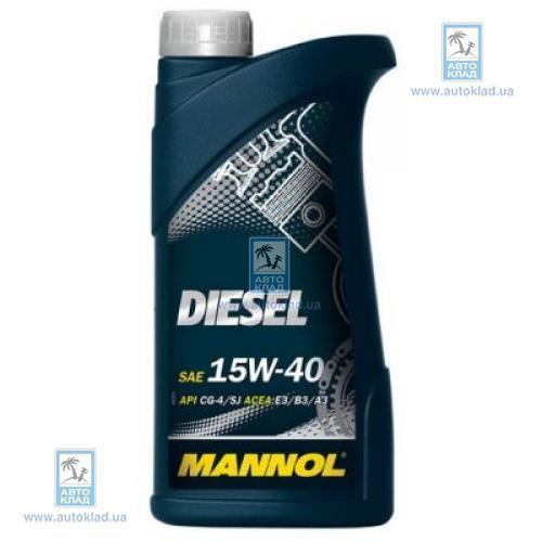 Масло моторное 15W-40 Diesel 1л MANNOL MN1751