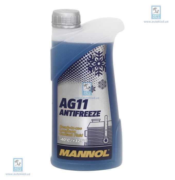 Антифриз G11 синий -40°C 1л MANNOL MN3596