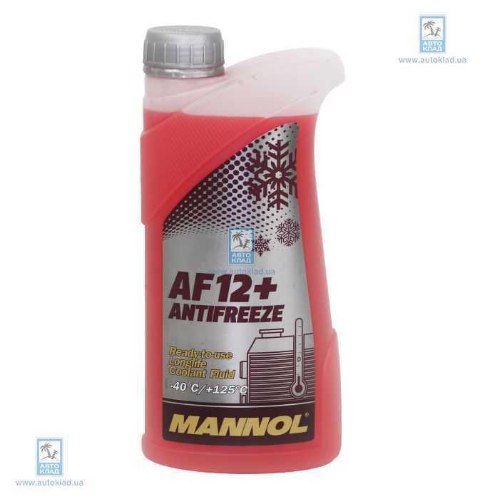 Антифриз G12 красный -40°C 1л MANNOL MN5541